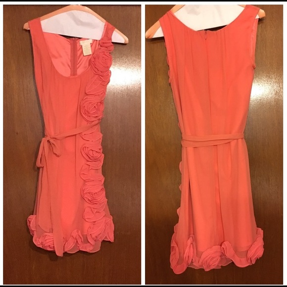 Coral Chiffon Dress